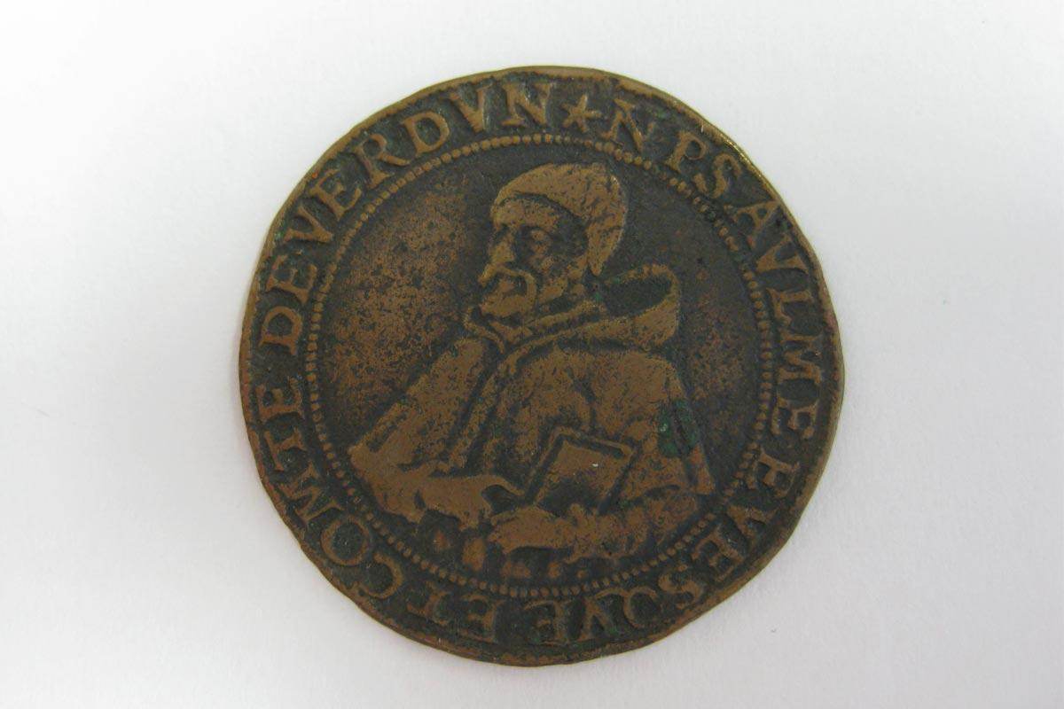 Jeton de compte à l'effigie de Nicolas Psaume, 1575, cuivre (inv.V.126)