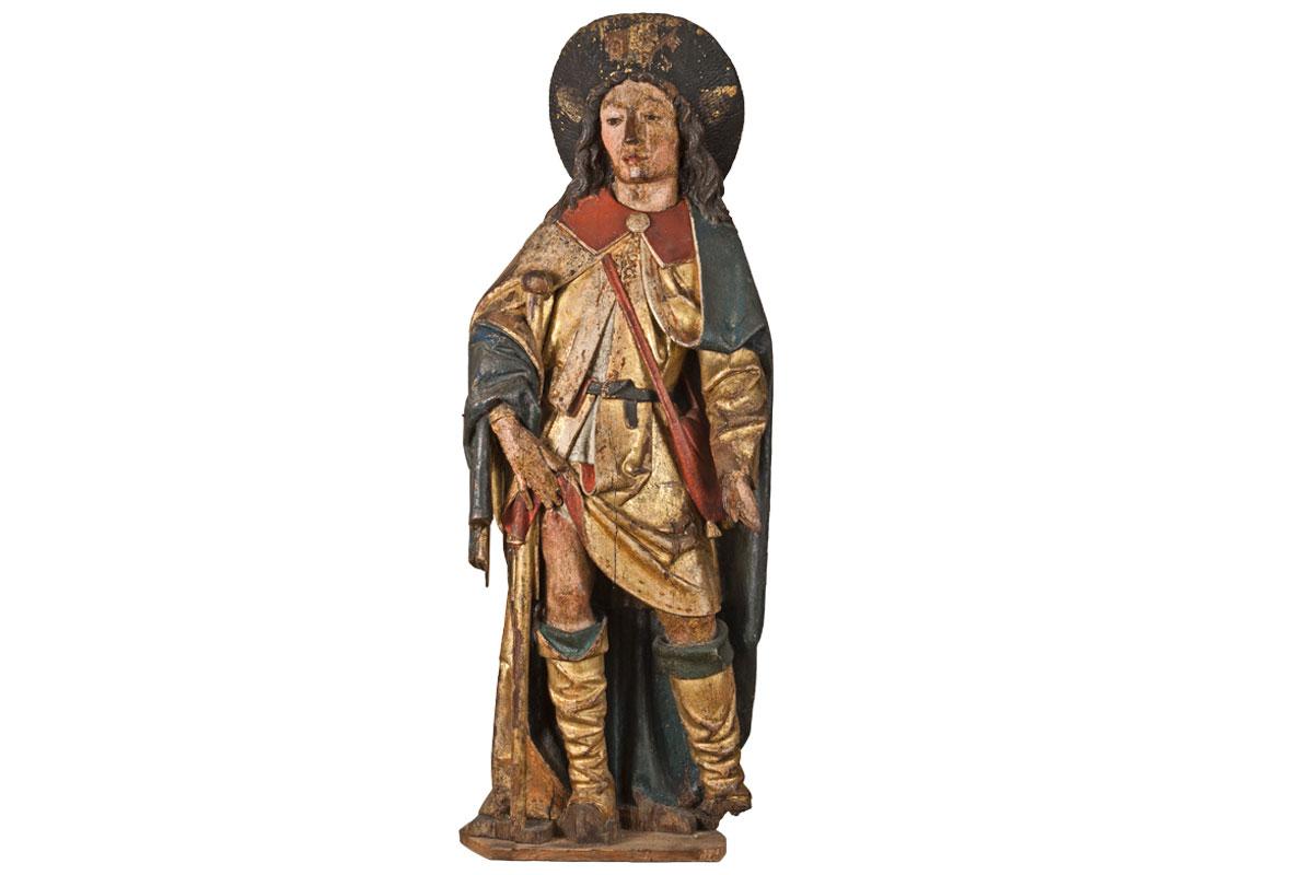 Saint Roch, XVIe siècle, bois peint et doré, Legs Basinet 1933 (inv.85.4.111)