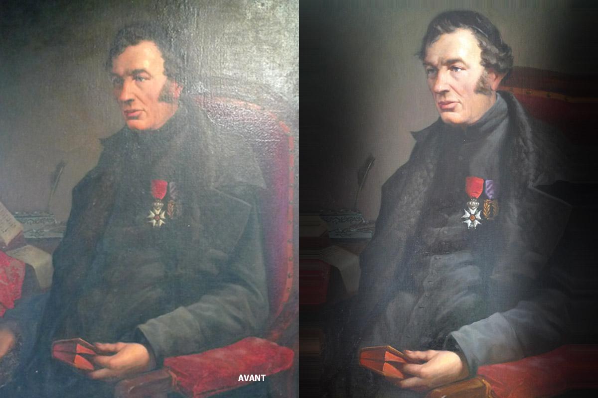 Portrait de l'abbé Clouet, G.VERDIER, 1873, huile sur toile (inv.81.1.96)