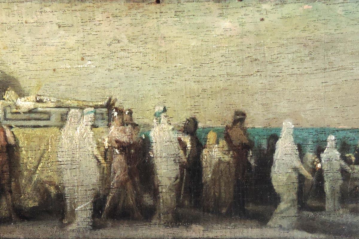 Quatre peintures d'Hector Leroux (1829-1900) (inv. 2019.5.1 à 2019.5.4)
